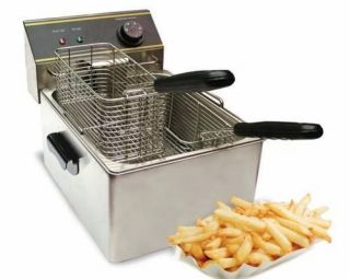 STEEL DUAL BASKET PRO FRY IMMERSION ELEMENT DEEP FRYER 0546615