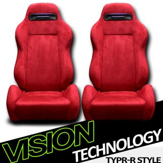 Suede Car Racing Seats+Sliders Dodge/Ram (Fits More than one vehicle