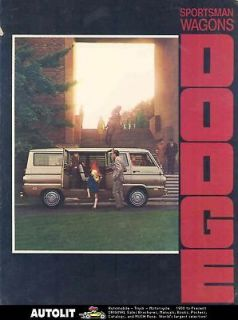 1970 Dodge Sportsman Wagon Van & Camper Brochure