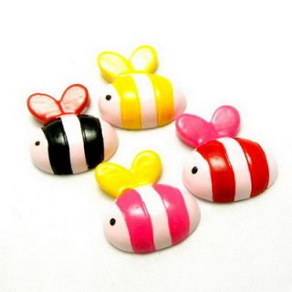 10x Cute Bumble Bee Animal Bug Resin Flatback Cabochons Scrapbooking