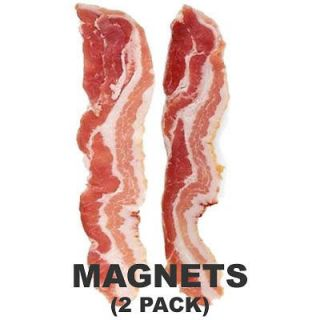 BACON SLICES REFRIGERATOR MAGNETS   BACON STRIPS MAGNET SET FRIDGE   2