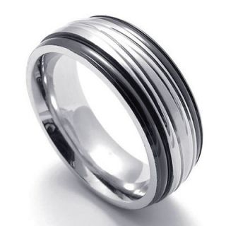 mens stainless steel rings in Mens Jewelry