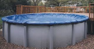 Winter Pool Cover Above Ground 33 Ft Round Arctic Armor 8 Yr Warranty