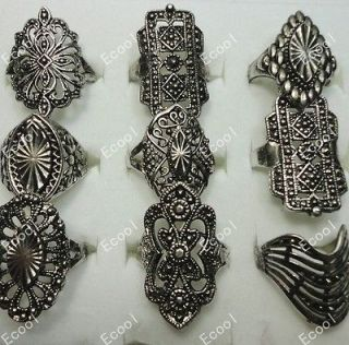 wholesale jewelry mixed lots 10pcs fashion vintage alloy rings free