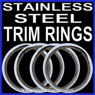 STAINLESS TRIM RINGS BEAUTY BANDS GLAMOUR WHEEL STEEL WHEELS LUG RIMS