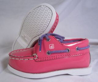 SPERRY A/O CRIB SUPER PINK SHOES GIRLS BABY/INFANT SIZE 2