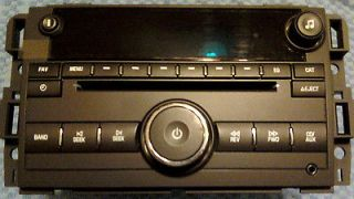 CD PLAYER RADIO TAHOE YUKON SILVERADO 07 11 XM RADIO AUX REAR IPOD/