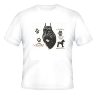 short sleeve T shirt Dog puppy Giant Schnauzer pet nature dogs