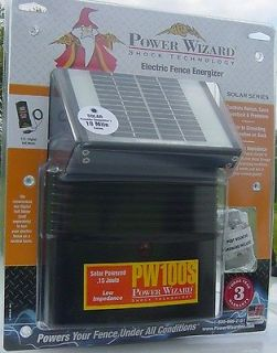 Newly listed solar electric fence charger energizer 12 volt power