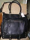 Steven Steve Madden Leather Tote Large Handbag Black Bag