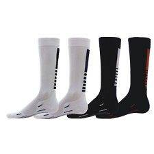 Compression Running Socks Mens Womens elite style black white red shin