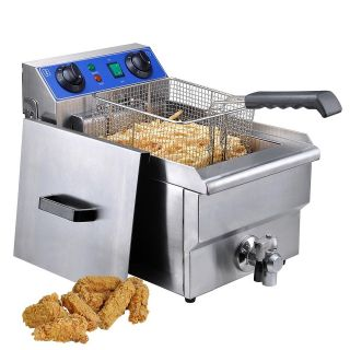 MTN 5000W Commercial Restaurant Electric Deep Fryer Cooker Double Tank