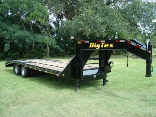 13 8.5x25 Gooseneck 10 ton Equipment Trailer Flatbed