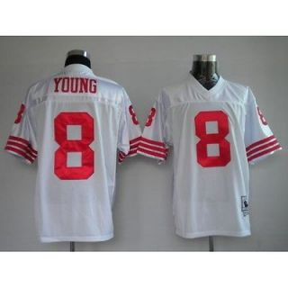 STEVE YOUNG White San Francisco 49ers Throwback Jersey 48 50 52 54