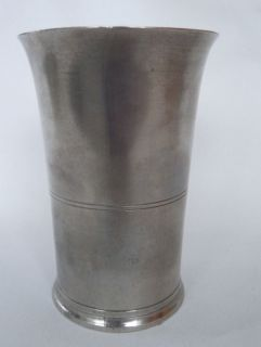 Mint American Pewter Tall Beaker, signed Tim. Boardman
