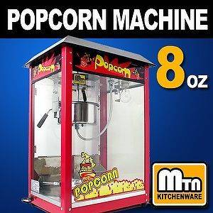 New MTN Commercial Electric 8oz Popcorn Machine Pop Corn Maker Bar