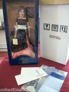 Franklin Mint TITANIC ROSE Vinyl Doll in The DINNER Dress 16