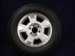 F150 PICKUP 09 12 17 SILVER/MACHINED 5 SPOKE ALLOY WHEEL & TIRE   1
