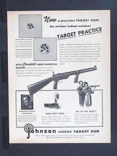 AUTOMATICS Home Shooting Gallery TARGET GUN magazine Ad fun w2350