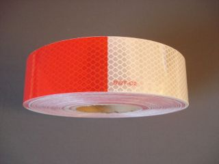 ft) Red/White Reflective Reflector Conspicuity Tape Semi Truck Trailer