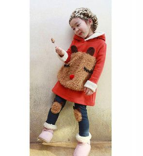 New Cute baby Kids Toddlers Bear Sweatshirts Girls Long Sleeve Hoodies
