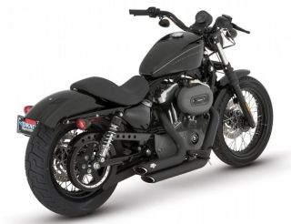 Vance and Hines Shortshots Staggered Exhaust Black For 06 11 Dyna