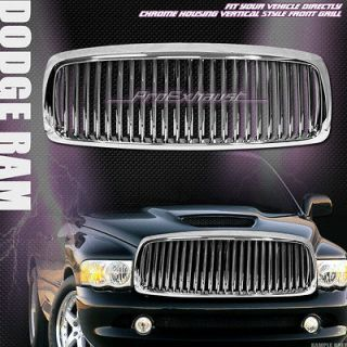 CHROME VERTICAL SPORT FRONT HOOD BUMPER GRILL GRILLE ABS 02 05 DODGE
