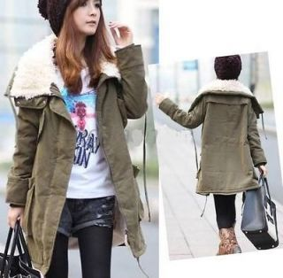 J93 Womens Warm Long Parka Zip Up Fleece Inner Winter Coat Jacket