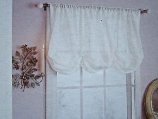Simply Shabby Chic White Batiste Embroidered Balloon Shade NEW