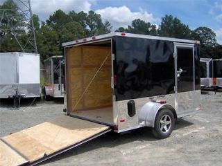 7x10 enclosed toy hauler cargo motorcycle trailer haul 2 bikes d rings