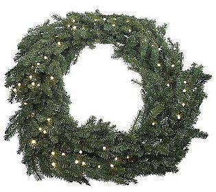 Bethlehem Lights Battery Operated 48 Foldable Prelit Wreath with