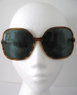 VINTAGE ITALIAN SUNGLASSES BROWN ANIMAL PRINT LARGE LENSES E ITALY