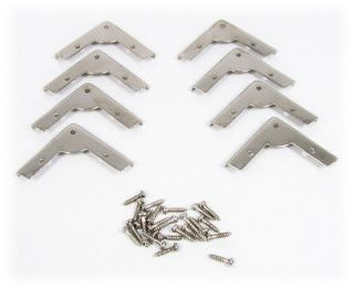 8pc. Low Profile Nickel Box Corners   a Great Accent for Your Project