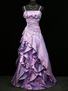 Size Satin Light Purple Boho Lace Gown Wedding/Evening Dress 22 24
