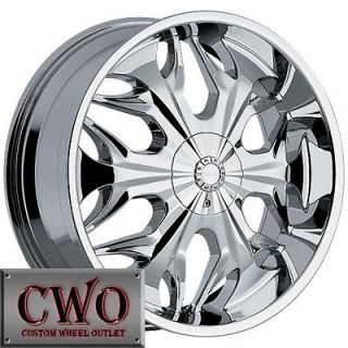 22 Chrome Akuza Reaper Wheels Rim 5x108/5x114.3 5 Lug Ford Jaguar