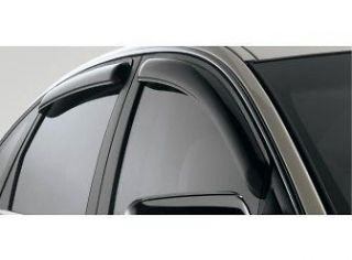 SIDE WINDOW AIR DEFLECTOR KIT VENT VISORS FIESTA 4 DOOR 2011 2012 2013