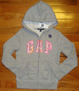 NWT girls GAP KIDS Kitty CAT Zip HOODIE JACKET Sweatshirt XXL 14 16
