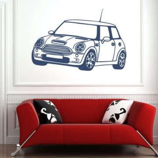 Mini Cooper S Car Wall Sticker Vinyl Art Decal Boys Room Transfer