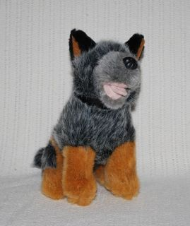 NEW* AUSTRALIAN BLUE HEELER CATTLE PUPPY DOG SOFT PLUSH TOY 18cm