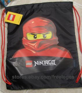 NINJAGO Red NInja KAI BACKPACK BOOKBAG CINCH BAG SAK   hard 2 find