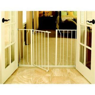 Easy Open Extra Wide Baby Child And Pet Dog Metal Gate White Door