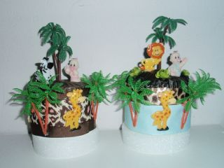 JUNGLE SAFARI BABY SHOWER DIAPER CUPCAKES TOPP CAKE GIFT FAVOR TABLE