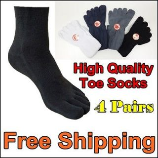 4pairs Mens Five Toe Socks Flip Flop Tabi Geta Men Casual Shoes Shoe