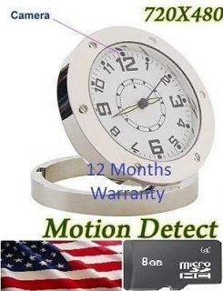 Spy Covert Camera Alarm Clock Nanny Cam DVR 720*480 + 8 GB memory card