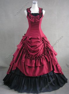 Civil War Southern Belle Lolita Ball Gown Dress Reenactment 081 XL