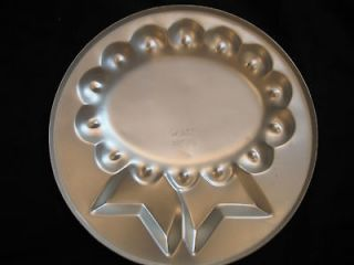 Vintage Wilton Cake Pans Happy Birthday Blue Ribbon Oval Very Good