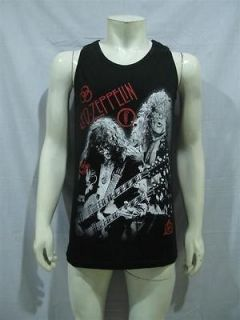 LED ZEPPELIN Heavy Punk Rock Band T Shirt Tank Top Mens Sz L