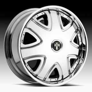 26 DUB SPIN Bandito Chrome WHEEL SET 26x10 5 & 6 LUG RWD RIMS 26inch