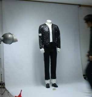 Michael Jackson Billie Jean Jacket & pant & socks & glove Free keyring