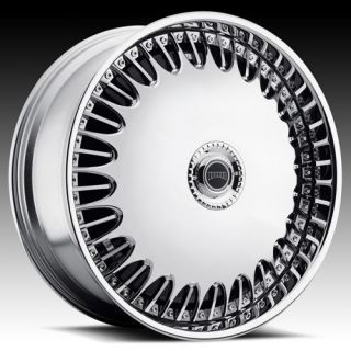 26 DUB SPIN Billionaire Chrome Wheel SET 26x10 RWD 5 & 6 LUG Spinners
